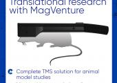 TMS Transkranielle Magnet Stimulation Spule für Kleintier Experimente (Nagetiere), Hirn, Forschung, Verhaltensstudien, Metabolismus, Effekte bestimmter Pharmaka, Konnektivität der Nervenzellen