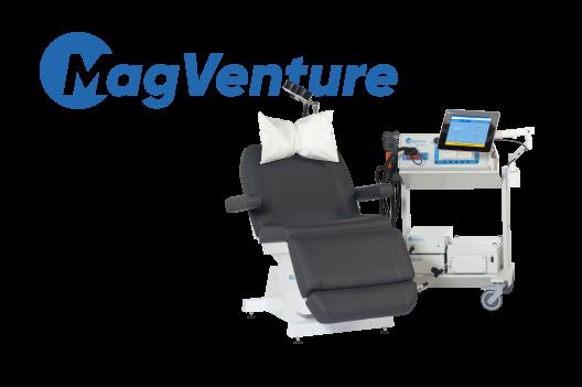Stimulateurs magnétiques MagPro pour la recherche et la thérapie en Neurologie, psychiatrie et rééducation  MagPro X100 MagOption avec bobine Cool Coil B65 à refroidissement actif. Pour toutes les indications de PEMs, TMS, ICI, ICF, TST, rTMS, TBS, PAS …