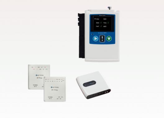 MPR-PG (Multi Parameter Recording- Polygraphy) für Schlafuntersuchungen von Level III bis Level I. Screening und Diagnostik des Obstruktiven Schlaf-Apnoe Syndroms (OSAS) und anderen Schlafstörungen (zum Differenzieren von zentralen und obstruktiven Apnoen, Hypopnoen, kardial-, neurologisch- und respiratorisch-bedingten Schlafstörungen, und die Optimierung der PAP-Therapie (Positive-Airway-Pressure)).