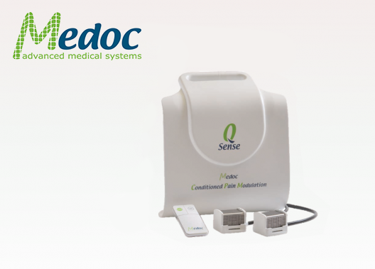 Q-Sense Conditioned Pain Modulation (CPM oder auch DNIC: Diffuse Noxious Inhibitory Control) System für die Untersuchung von Schmerzmechanismen.