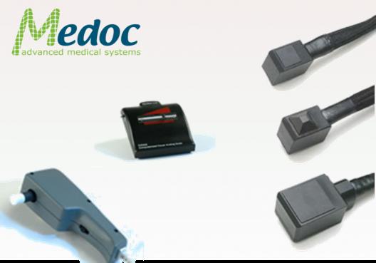 Medoc accessoires thermodes vibration main échelle douleur numérique
