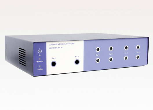 OxyMon: appareil multi-voies de spectroscopie dans le proche infrarouge (continuous-wave NIRS) pour la mesure de l'oxygénation tissulaire (pour les expériences cognitives en neurosciences et psychologie, la cartographie cérébrale (brain mapping), les sciences du sport...)