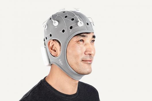 Neurostimulateur tDCS (transcranial direct current stimualtion ; stimulation transcrânienne à courant direct) sans-fil pour les expériences cognitives, la thérapie de la douleur, de la dépression, la neurorééducation...