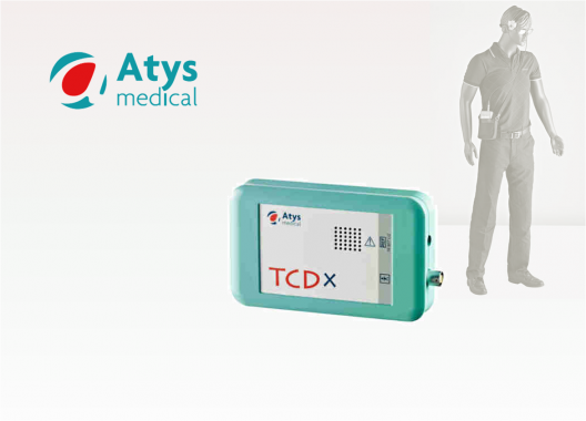 TDCx: holter for transcranial doppler - monitoring of asymptomatic carotis stenosis with emboli detection and robotic probe