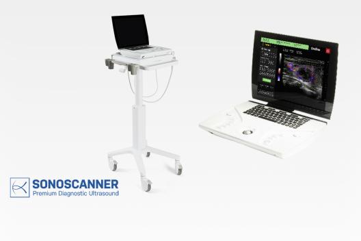 Ondina portable high-performance ultrasound system for the point-of-care (POC), emergency units, ambulance, Radiologiy, Obstetrics, Gynecology, soft tissues, MSK (Rhumatology, Neurology, Orthopaedics), Anesthesia, Urology, Vascular diagnostics, Abdomen, pediatrics