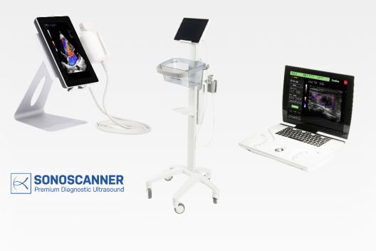 portable and mobile ultrasound systems for the point of care, general practitioners (GP), emergency units, ambulance, neurology, urology, rhumatology, gynaecology, anaesthetics, abdomen soft tissues, endocrinology, pediatrics, MSK, orthopaedics......