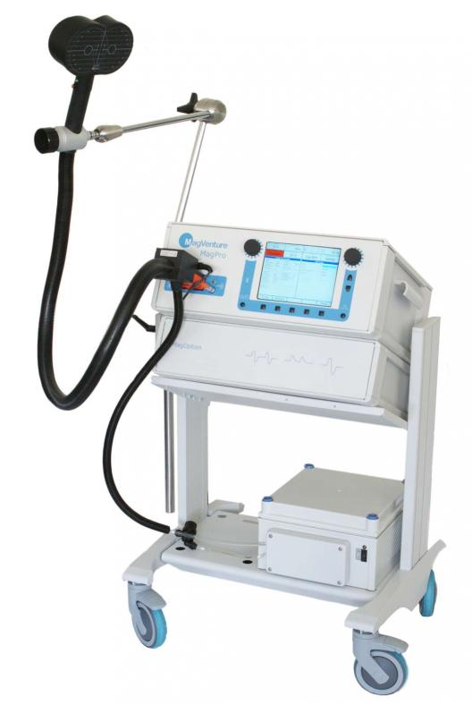 MagPro X100 recherche TMS rTMS TBS theta burst stimulation