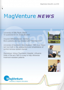MagVenture News: Transcranial Magnet Stimulation (TMS) - More patients are now treated with TMS than ECT - important in assessment and rehabilitiation of central nervous system injuries
